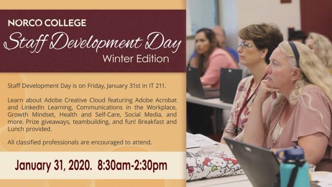 Staff Development Day Jan 2020